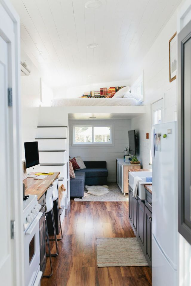 28' Golden Tiny Home on Wheels by American Tiny House