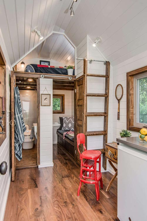 "The Farmhouse Chic ""Cedar Mountain Tiny House"" by New Frontier Tiny Homes"