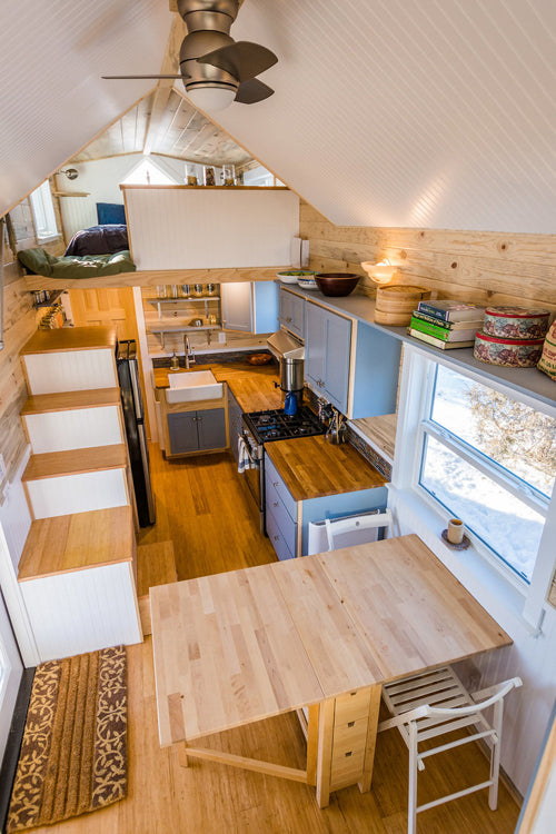 Tara's Custom 33' Tiny House on Wheels by MitchCraft Tiny Homes