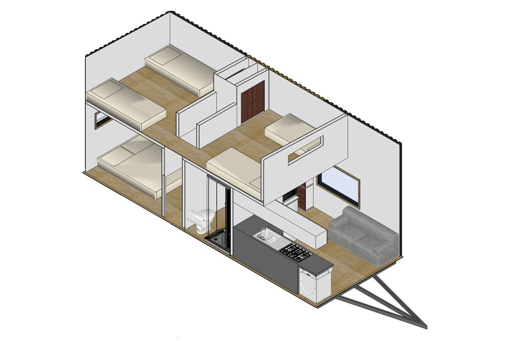 "3-bedroom ""Kauri"" Tiny Home on Wheels by Tiny House Builders Sleeps 6!"