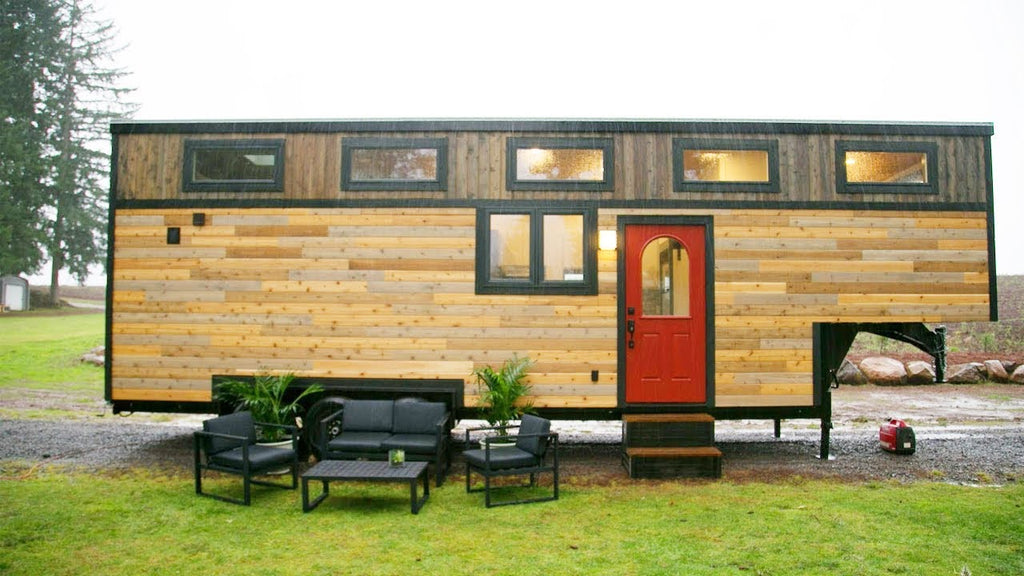 """Tiny Traveling Dream Home"" Gooseneck Tiny House by Tiny Heirloom"