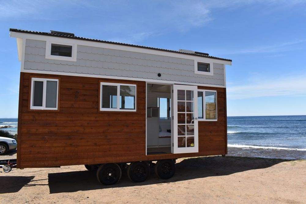 "16' ""Graduate Series 6000DL Seaside"" Tiny House on Wheels by Designer Eco Homes"