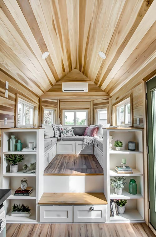 "24' ""Clover"" Tiny House on Wheels by Modern Tiny Living"