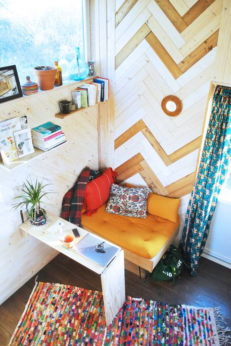 "160-sqft ""TinyBox"" Tiny House on Wheels For Rent in Bordeaux, France"
