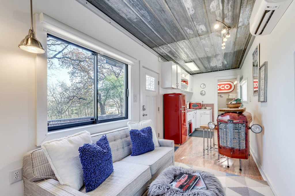 Classic Chevy Theme Container Tiny House for rent on Airbnb in Fort Worth, Texas