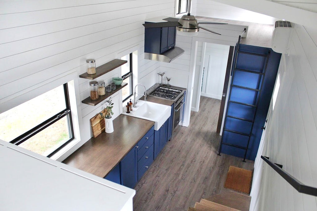 "31' ""Juniper"" Tiny House on Wheels by Mustard Seed Tiny Homes"