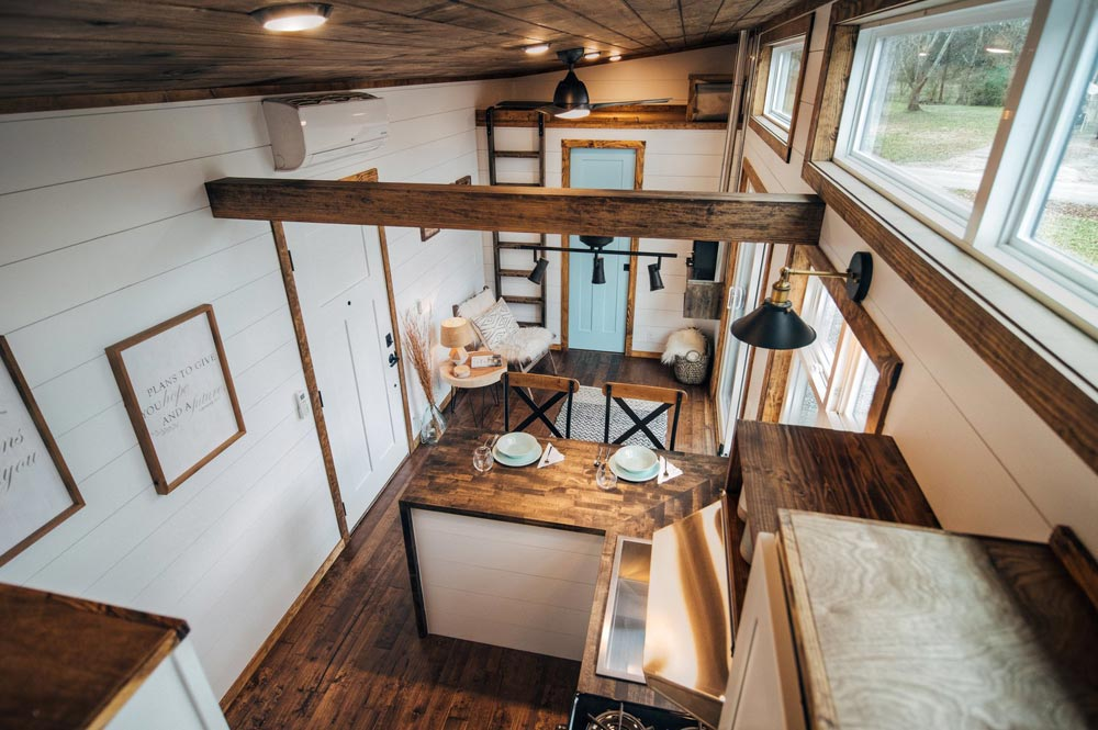 "32' ""Lupine"" Gooseneck Tiny House on Wheels by Wind River Tiny Homes"