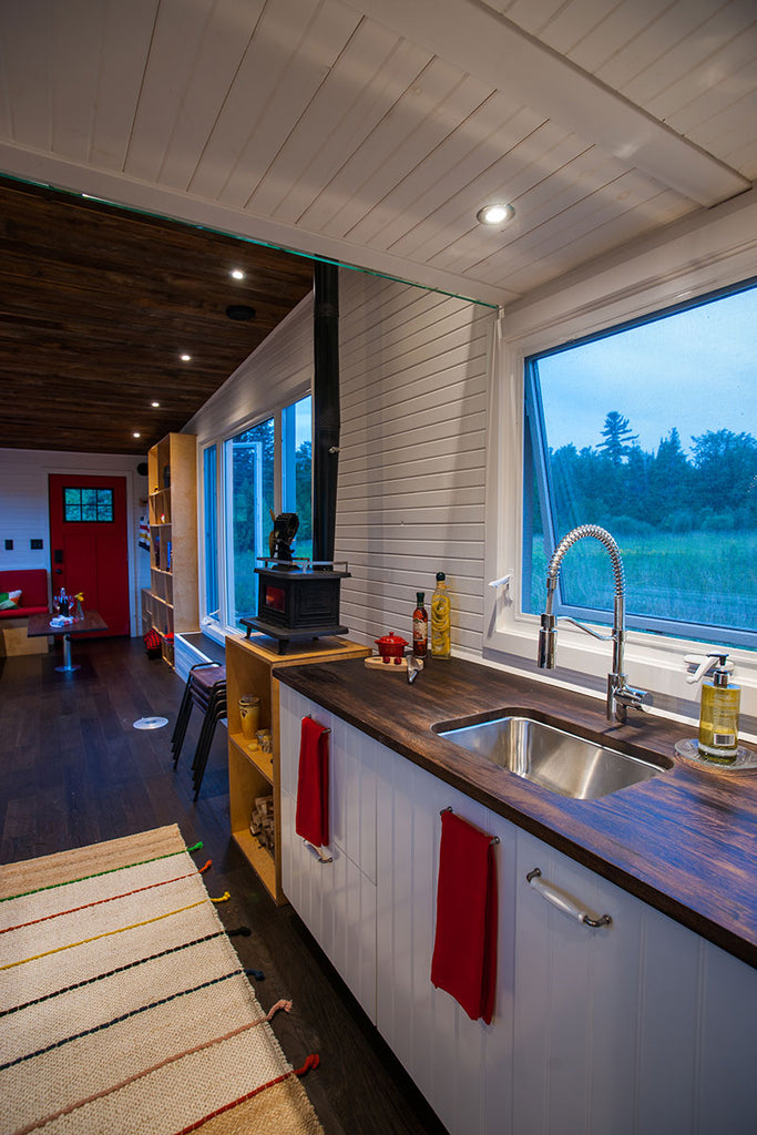 "340-sqft Off-Grid ""Greenmoxie"" Tiny House on Wheels"