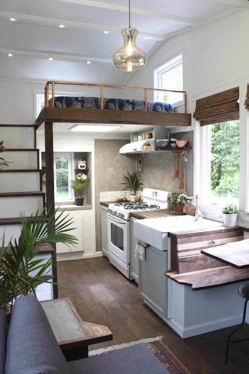 "250-sqft ""Artisan Retreat"" Farmhouse-Style Tiny House by Handcrafted Movement"