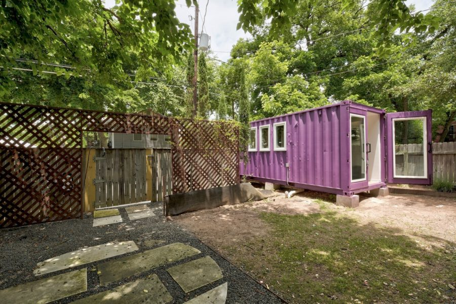 "20' ""Purple Monster"" Shipping Container Home by Kountry Countainers"