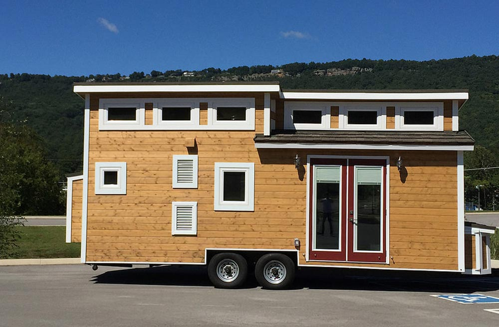 "24' ""Nooga Blue Sky"" Tiny Home on Wheels by Tiny House Chattanooga"