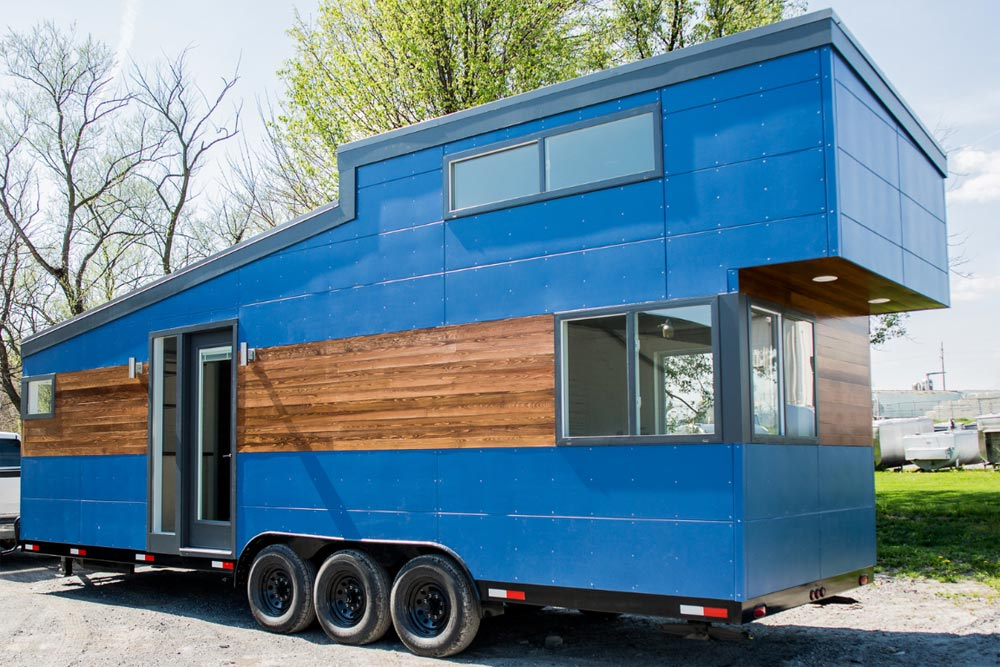 "28' ""Big Blue"" Tiny House on Wheels by Liberation Tiny Homes"