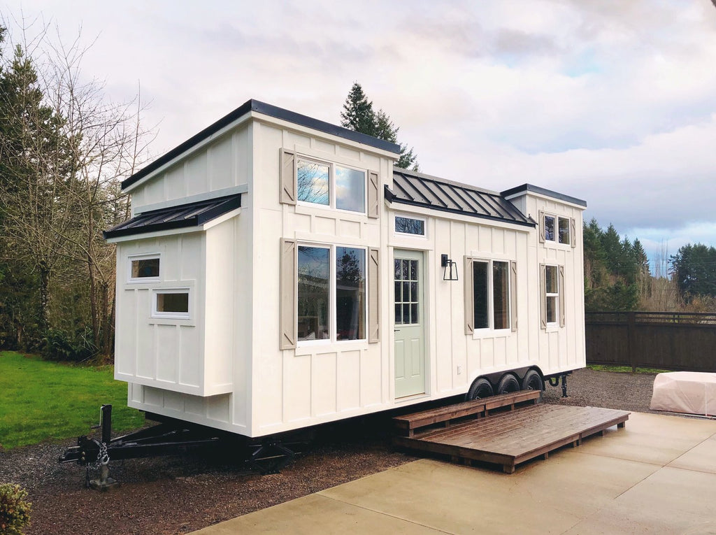 "28' ""Coastal Craftsman"" Tiny House on Wheels by Handcrafted Movement"