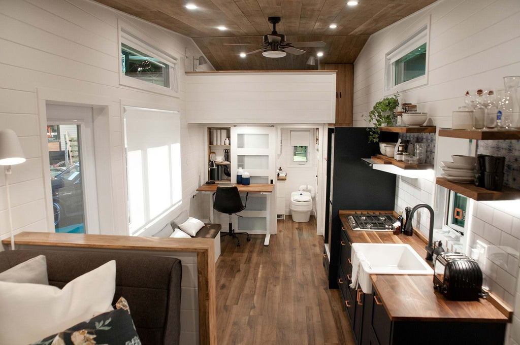 "331-sqft ""Noyer"" Tiny House on Wheels by Minimaliste Tiny Houses"