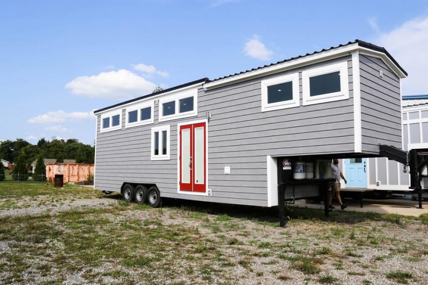 "39' ""Mini Mansion"" Gooseneck Tiny Home on Wheels by Tiny House Chattanooga"