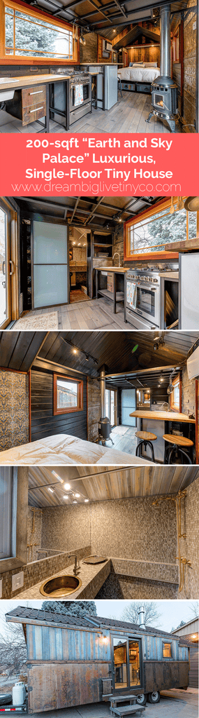 "200-sqft ""Earth and Sky Palace"" Luxurious, Single-Floor Tiny House"