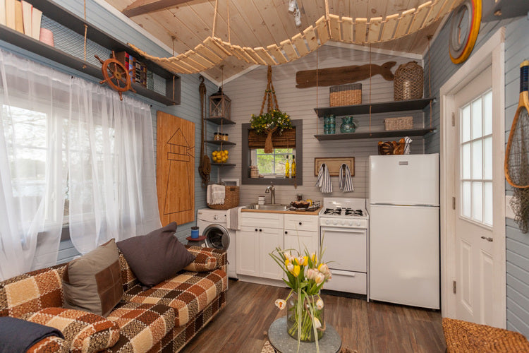 200 Sqft Cape Cod Tiny Home By Viva Collectiv   Living Room Part 73
