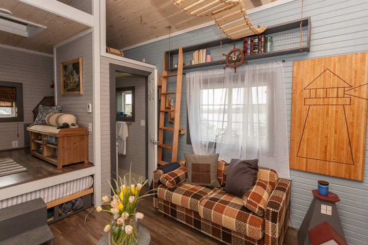 200 Sqft Cape Cod Tiny Home By Viva Collectiv   Living Room Part 53