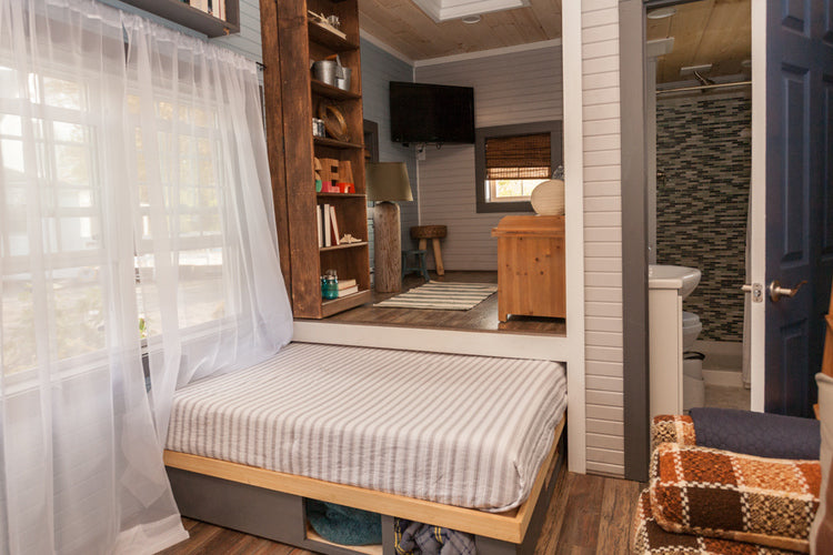 200 sqft Cape Cod Tiny Home by Viva Collectiv - Pull Out Bed
