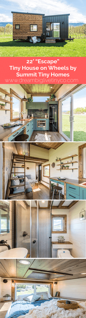 "22' ""Escape"" Tiny House on Wheels by Summit Tiny Homes"