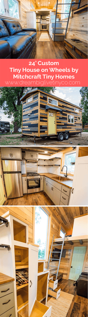 24' Custom Tiny House on Wheels by Mitchcraft Tiny Homes