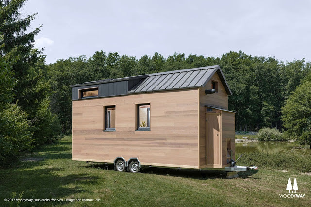 Cottage Tiny House on Wheels by WoodyWay Houses in Geneva, Switzerland