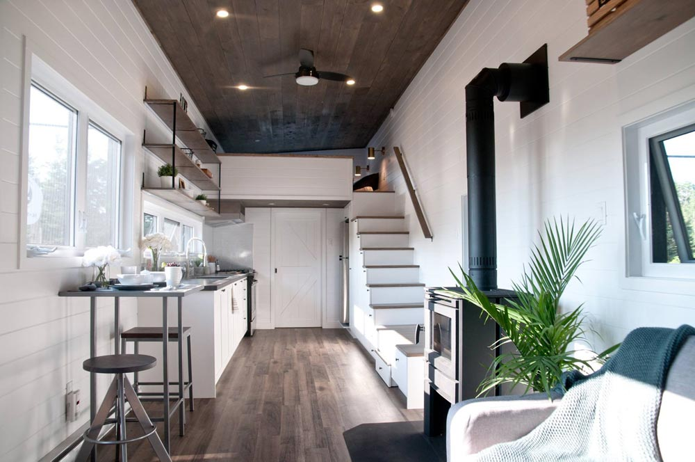 "Larger 34.5' x 10.5' ""Lilas"" Tiny Home on Wheels by Minimaliste Tiny Houses"