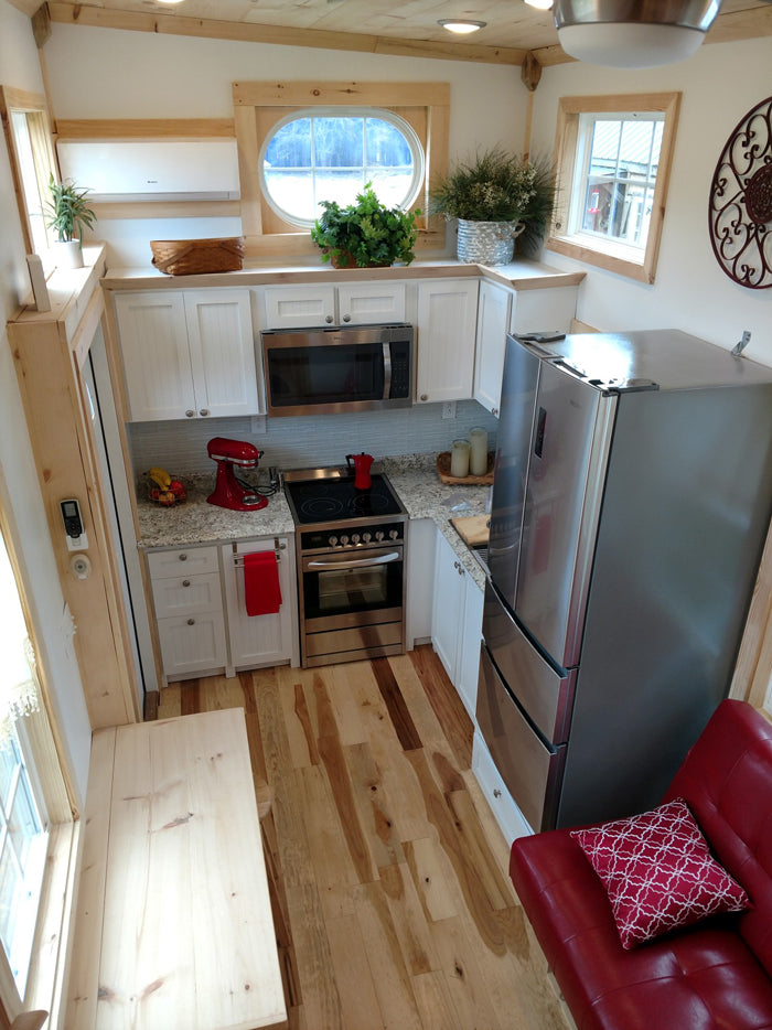 "The 310-sqft ""Royal Iris"" Tiny Home on Wheels by Hummingbird Tiny Housing"