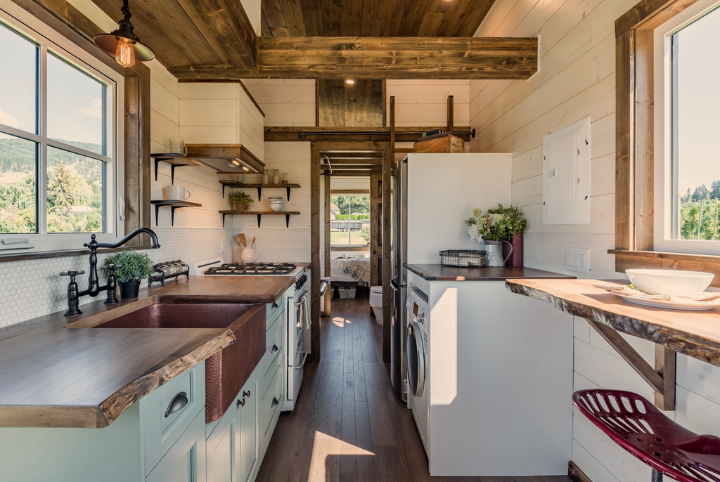 "28' ""Hummingbird"" Tiny House on Wheels by Summit Tiny Homes"