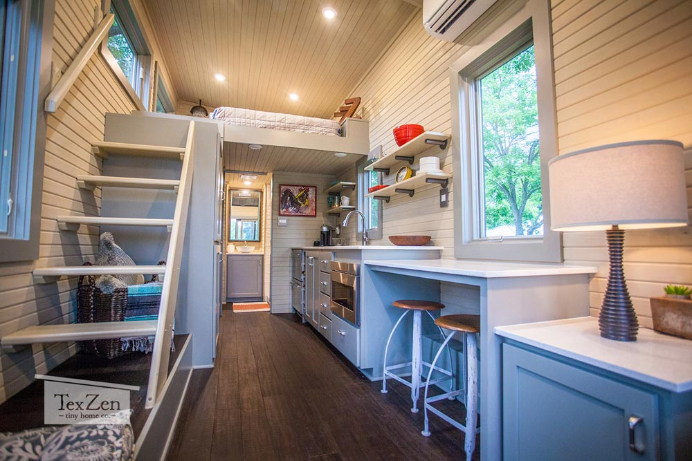 Single Loft Tiny House on Wheels by Tex Zen Tiny Home Co. in Austin, Texas