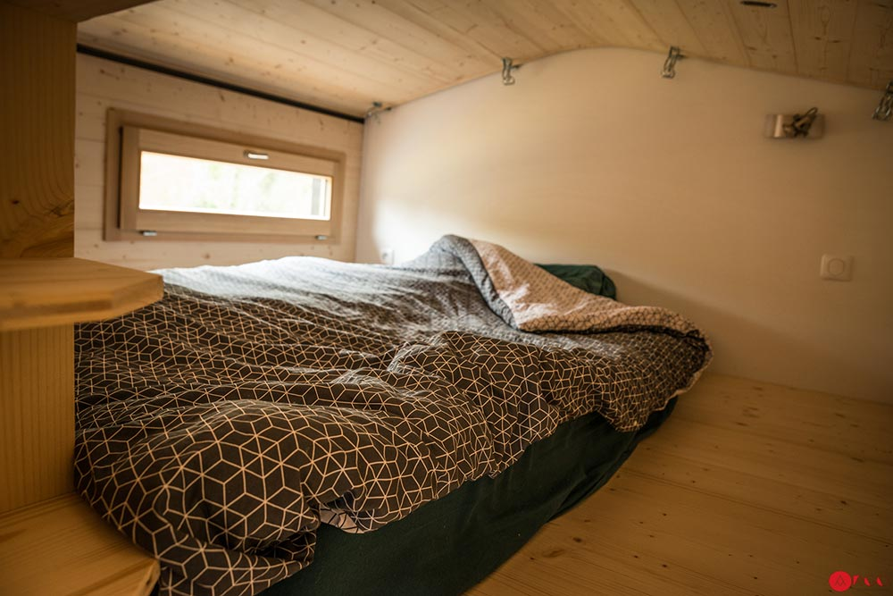 """Stephanie"" Tiny House on Wheels with Sliding Roof by Optinid Sleeps 6!"
