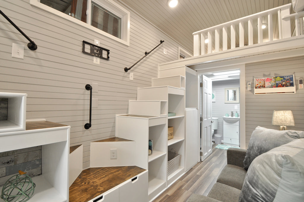the elegant kate tiny home on wheels by tiny house building co dream big live tiny co. Black Bedroom Furniture Sets. Home Design Ideas