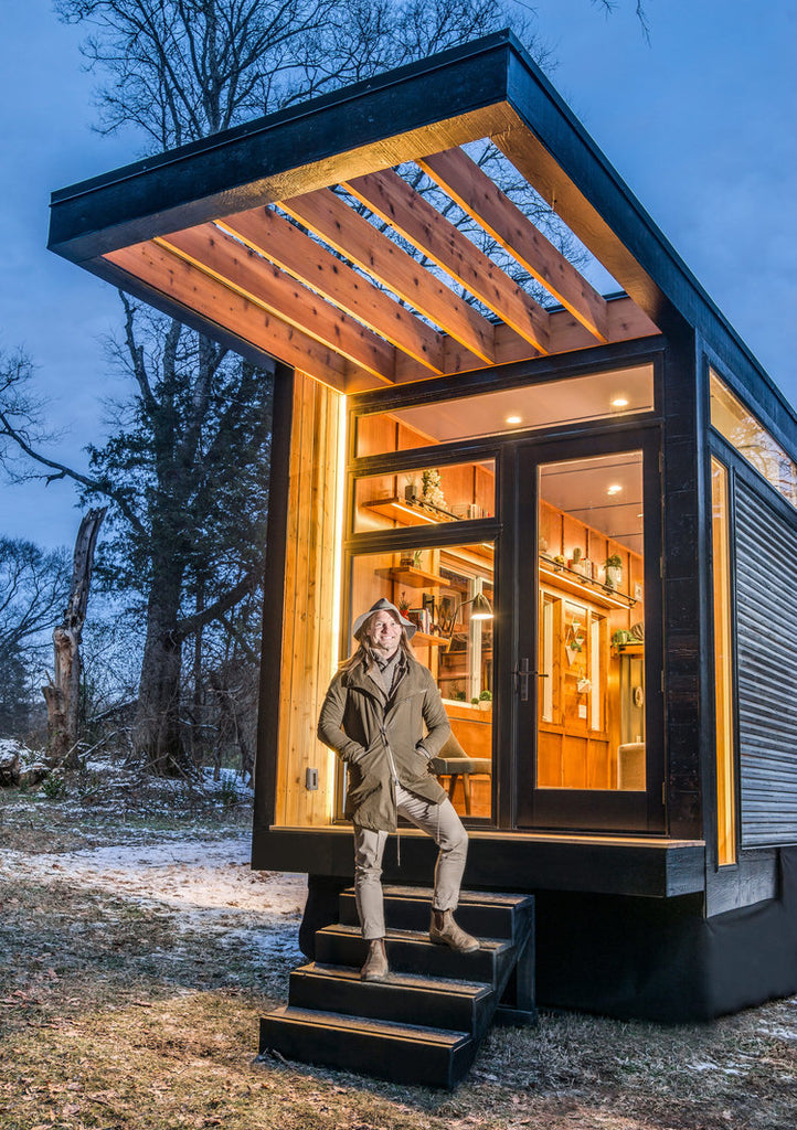 "Beautiful ""Cornelia"" Tiny House on Wheels by New Frontier Tiny Homes"