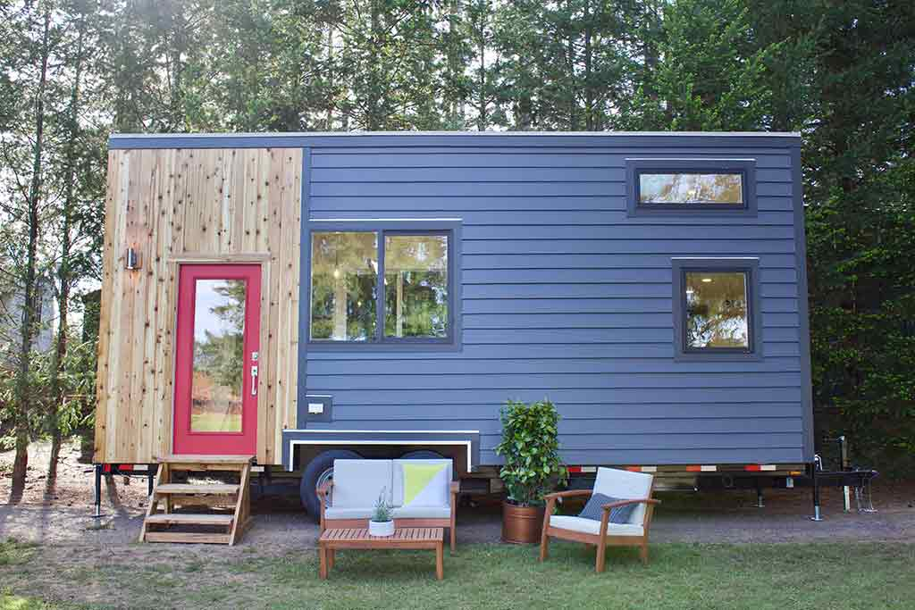 Tiny Home and Garden tiny house on wheels by Tiny Heirloom in Portland, Oregon