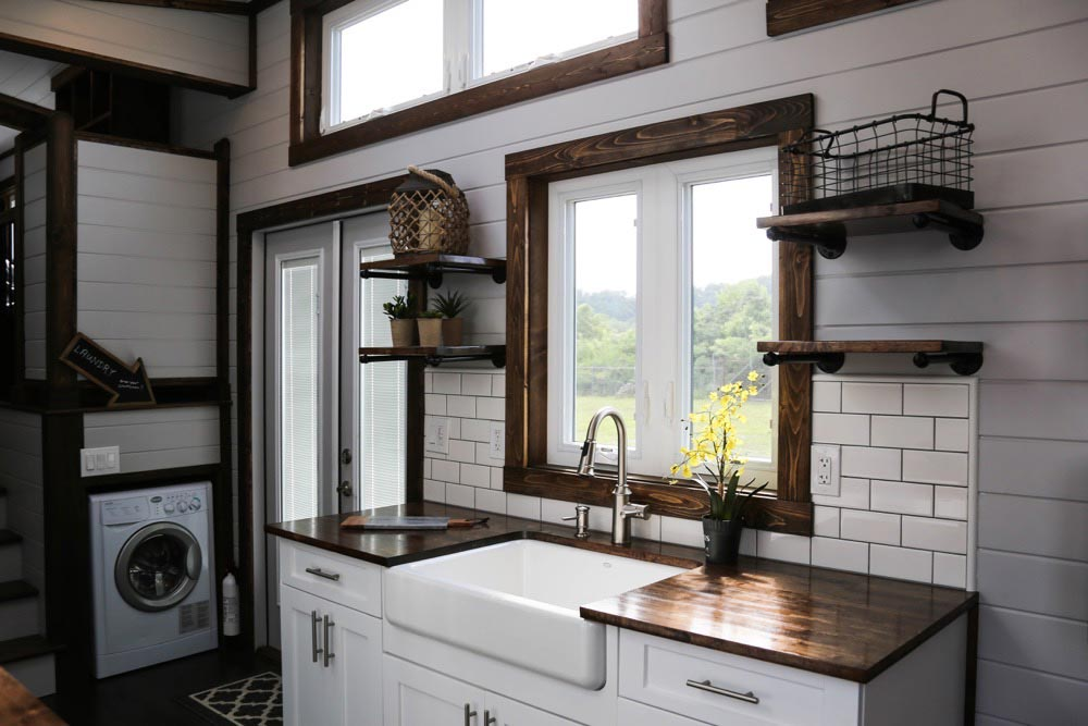 """39' """"Mini Mansion"""" Gooseneck Tiny Home on Wheels by Tiny House Chattanooga"""