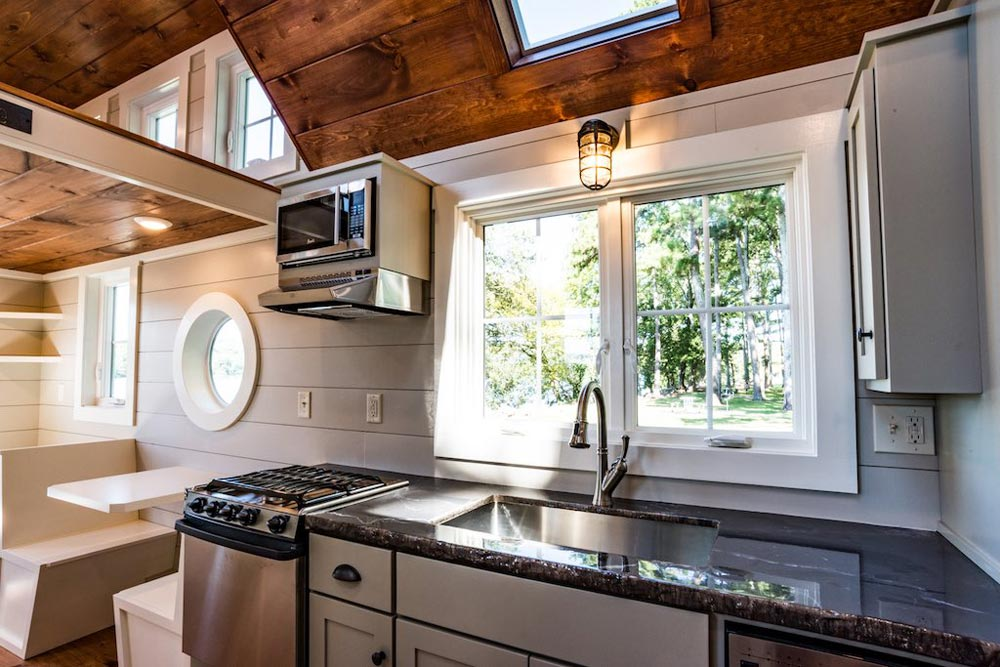 "The Rustic 28' ""Ridgewood"" Tiny House on Wheels by Timbercraft Tiny Homes"