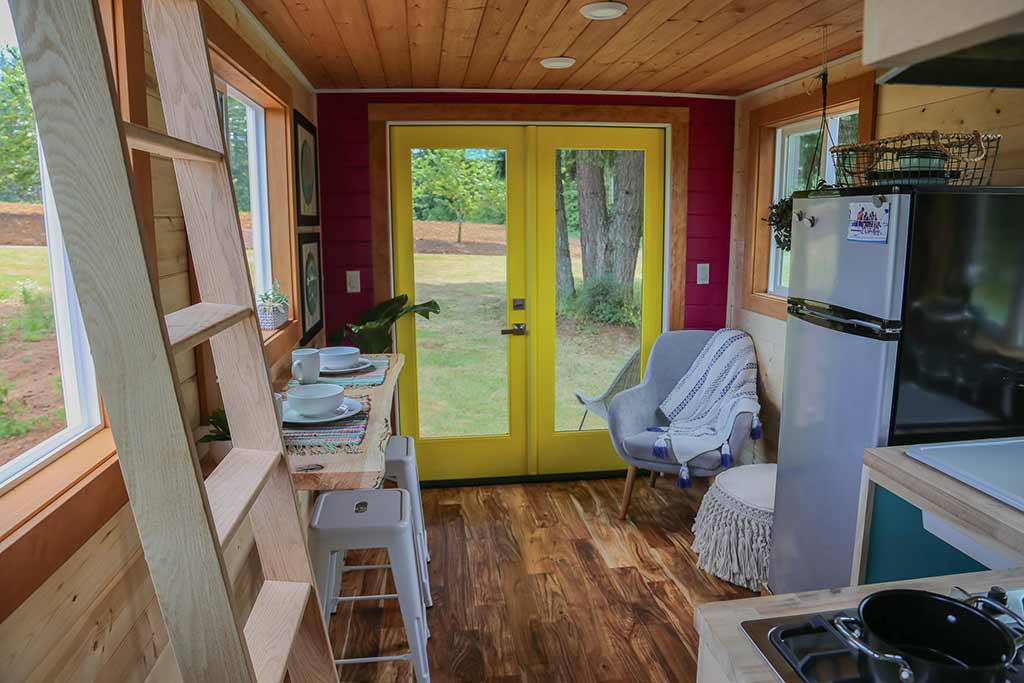 "The Colorful ""Beachy Bohemian"" Tiny House by Tiny Heirloom"