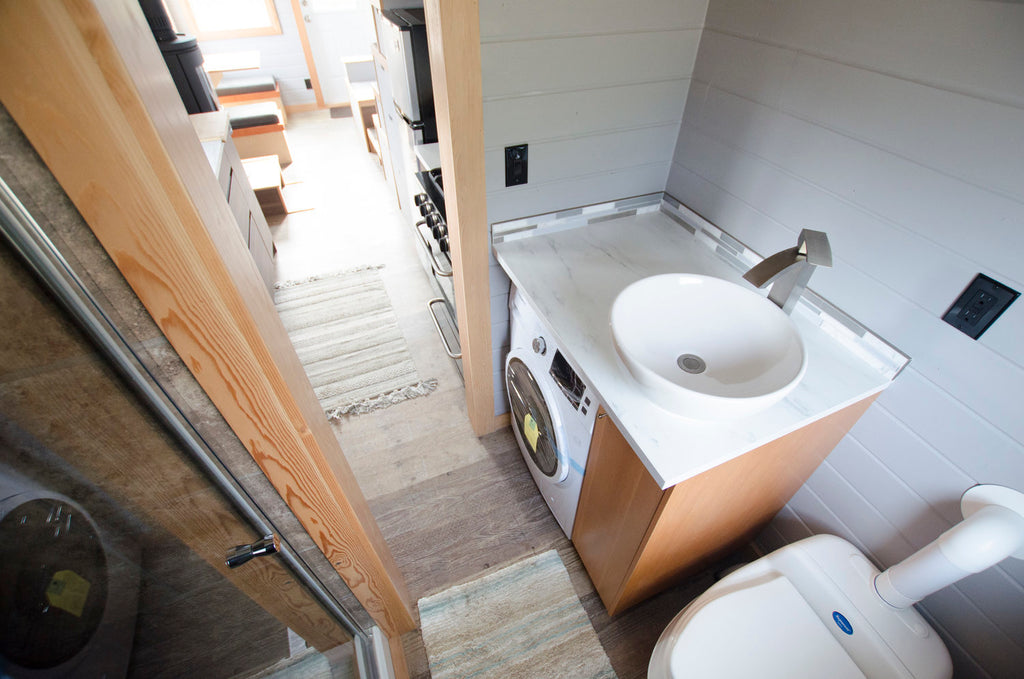 "24' ""Blue Heron"" Tiny House on Wheels by Rewild Homes"