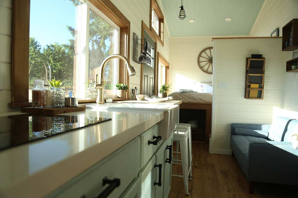 """Rustic Farmhouse"" Tiny House on Wheels by Tiny Heirloom"