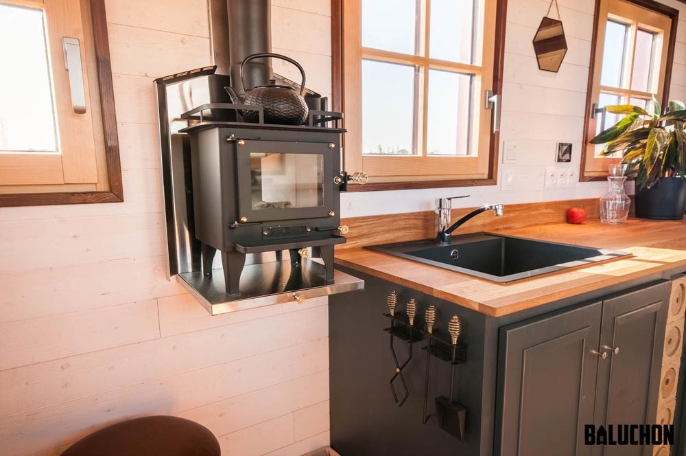 "158-sqft ""Holz Hisla"" Tiny Home on Wheels by Tiny House Baluchon"
