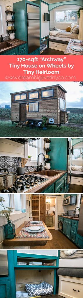 "170-sqft ""Archway"" Tiny House on Wheels by Tiny Heirloom"