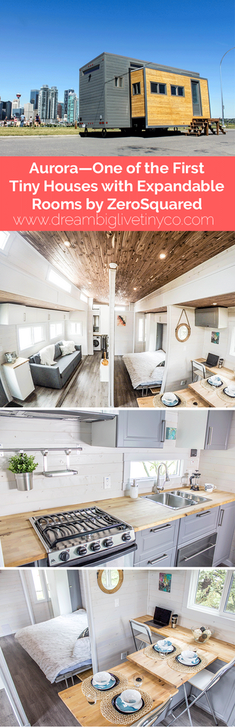 Aurora—One of the First Tiny Houses with Expandable Rooms by ZeroSquared