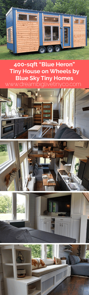 "390-sqft ""Blue Heron"" Tiny House on Wheels by Blue Sky Tiny Homes"