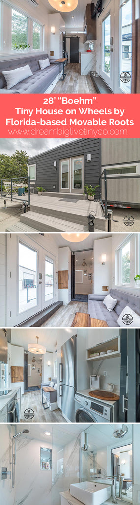 "28' ""Boehm"" Tiny House on Wheels by Florida-based Movable Roots"