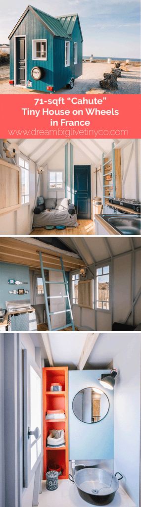 "71-sqft ""Cahute"" Tiny House on Wheels in France"