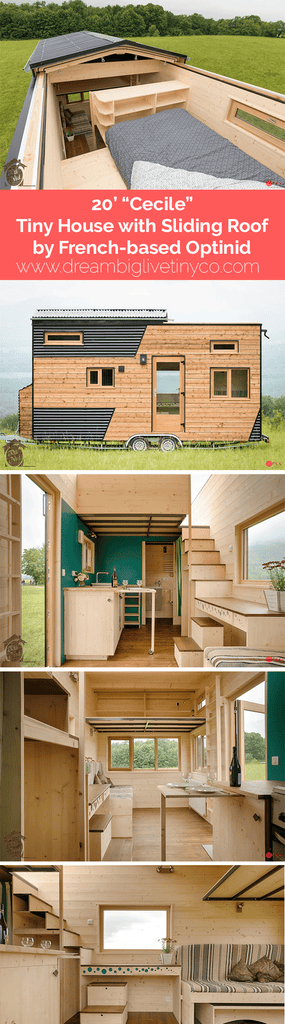 "20' ""Cécile"" Tiny House with Sliding Roof by French-based Optinid"