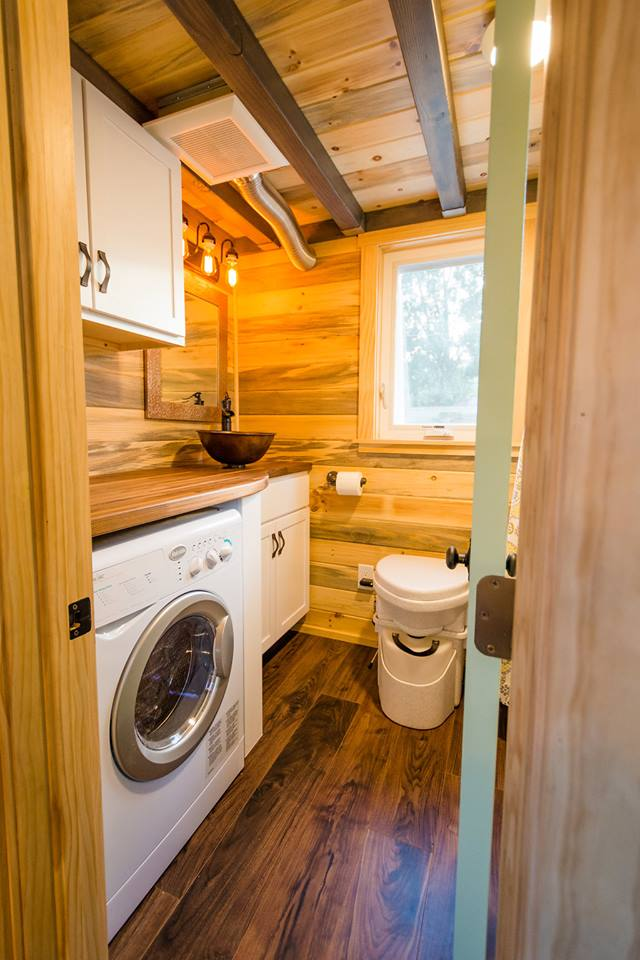 24' Custom Tiny House on Wheels by Mitchcraft Tiny Homes- Bathroom