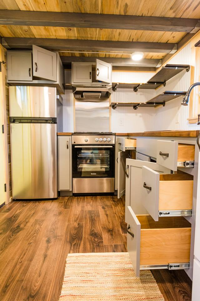 24' Custom Tiny House on Wheels by Mitchcraft Tiny Homes- Kitchen