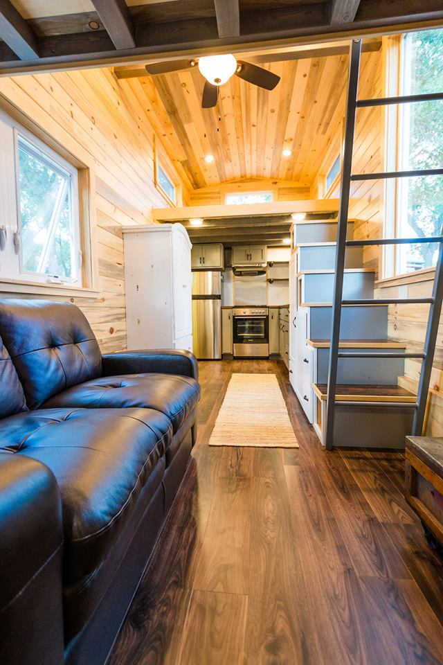 24' Custom Tiny House on Wheels by Mitchcraft Tiny Homes- Living Room