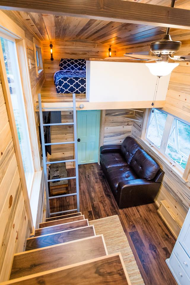 24' Custom Tiny House on Wheels by Mitchcraft Tiny Homes- Master Loft